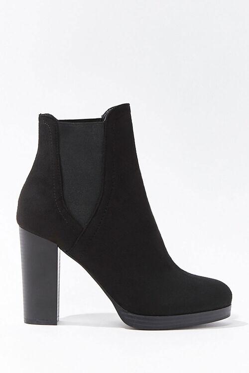 Faux Suede Chelsea Boots, image 1