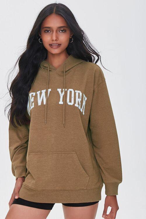 New York Graphic Fleece Hoodie, image 1