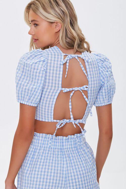 Striped Tie-Back Crop Top, image 3