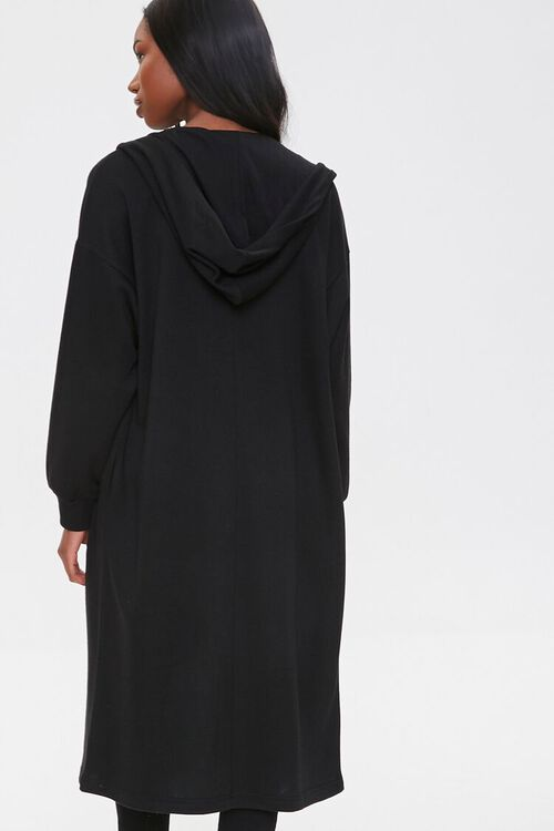 Fleece Hooded Duster Jacket, image 3