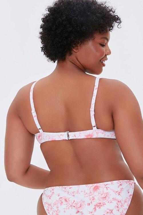 Plus Size Floral Print Bralette Bikini Top, image 3
