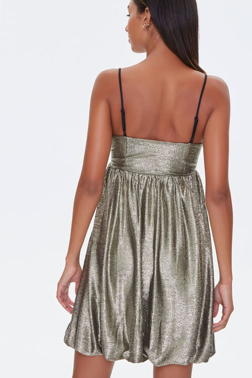 Metallic Fit & Flare Dress, image 3