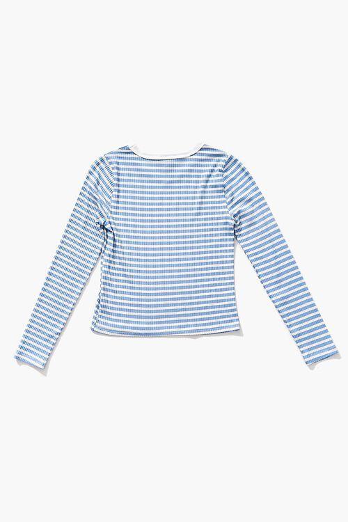 Girls Ribbed Striped Top (Kids), image 2