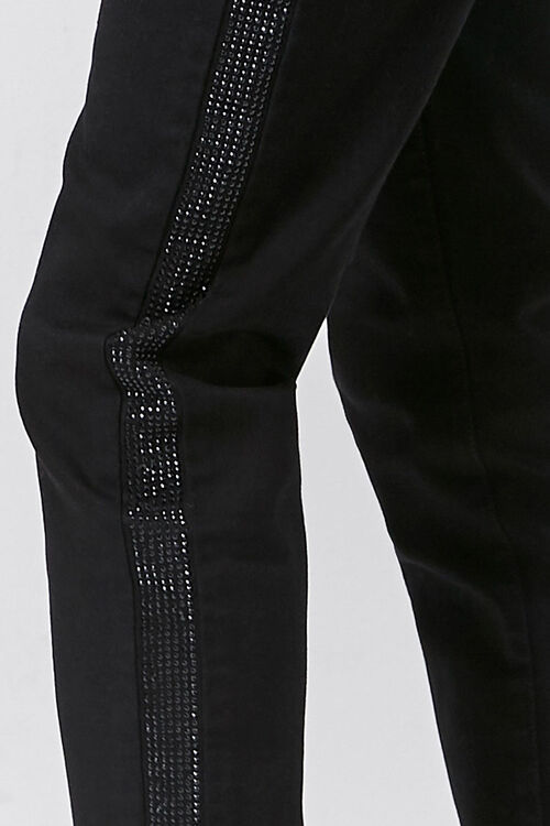 Rhinestone-Trim Skinny Jeans, image 6
