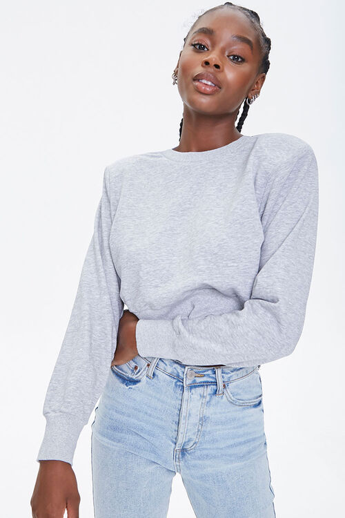 Shoulder-Pad Crew Sweatshirt, image 1