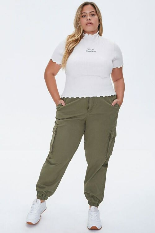 Plus Size Angels Only Lettuce-Edge Tee, image 4