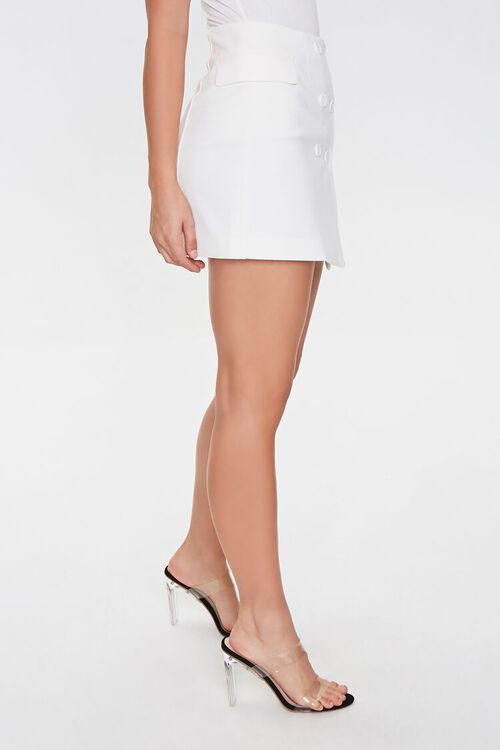 WHITE Double-Breasted Mini Skirt, image 2