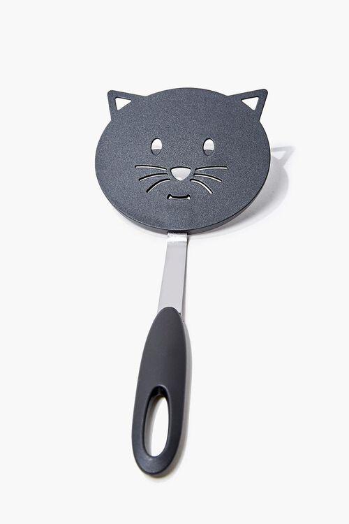 BLACK/MULTI Cutout Cat Spatula, image 1