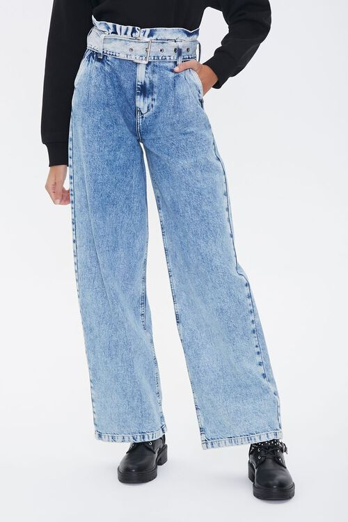 Paperbag Wide-Leg Jeans, image 4