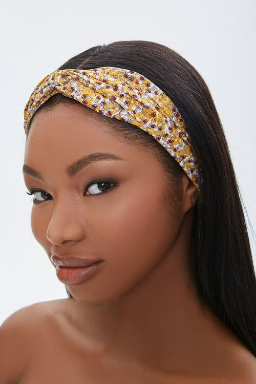 Ditsy Floral Print Headwrap, image 1