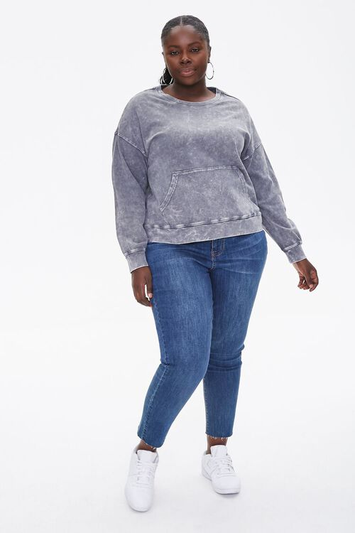 Plus Size Oil Wash Pullover, image 4