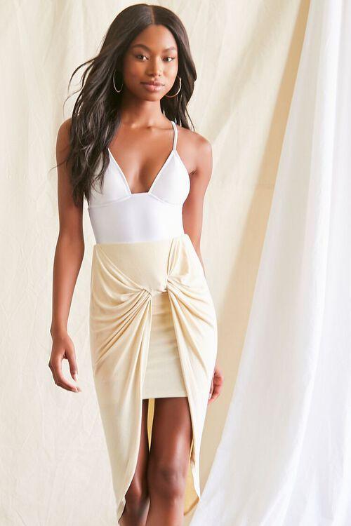 High-Low Gathered Skirt, image 1