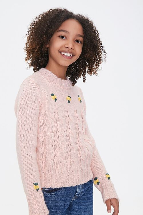 Girls Cable Knit Sweater (Kids), image 1