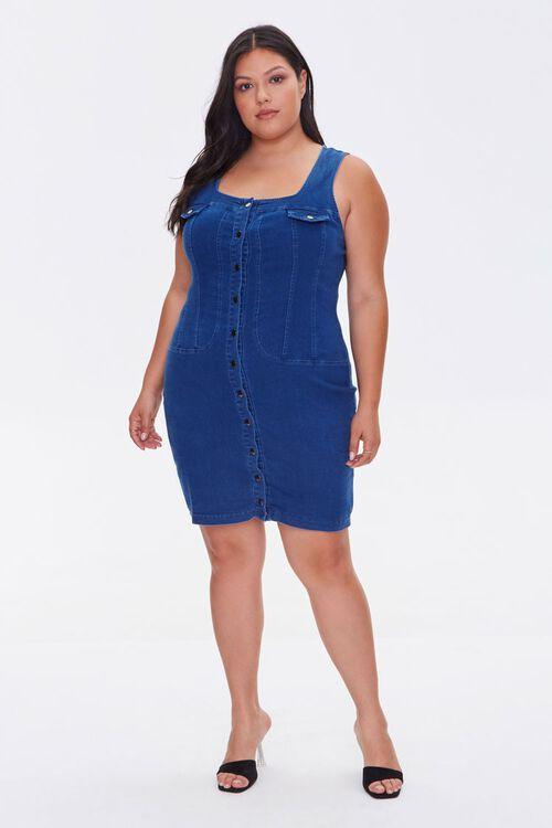 Plus Size Denim Bodycon Dress, image 4