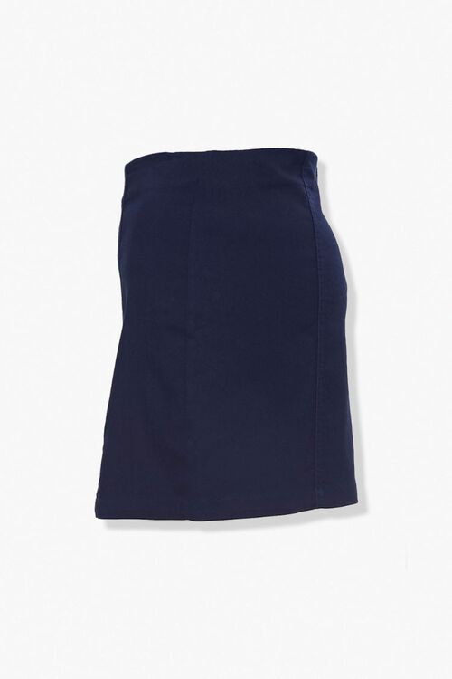 Plus Size Vented Mini Skirt, image 2