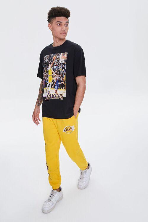 YELLOW/PURPLE Lakers Graphic Fleece Joggers, image 7