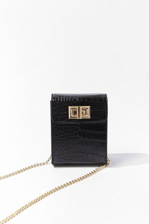 Faux Croc Leather Crossbody Bag, image 2