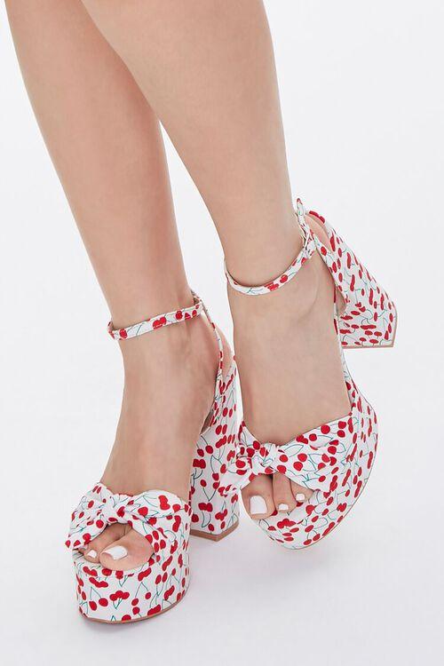 Cherry Print Block Heels, image 1