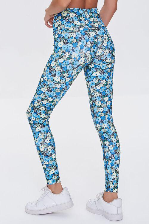 BLUE/MULTI Active Floral Print Leggings, image 4