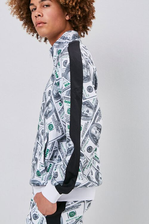 Hundred Dollar Print Bomber Jacket, image 2