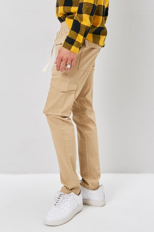 Drawstring Chino Cargo Pants, image 3