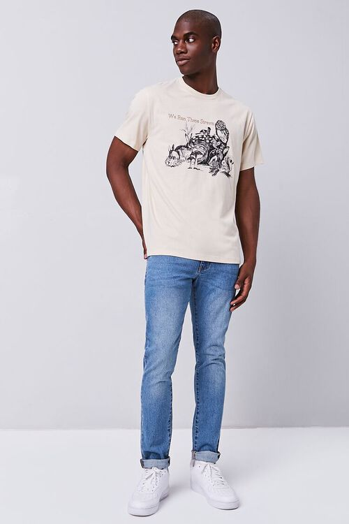 TAUPE/MULTI Organically Grown Cotton Graphic Tee, image 4
