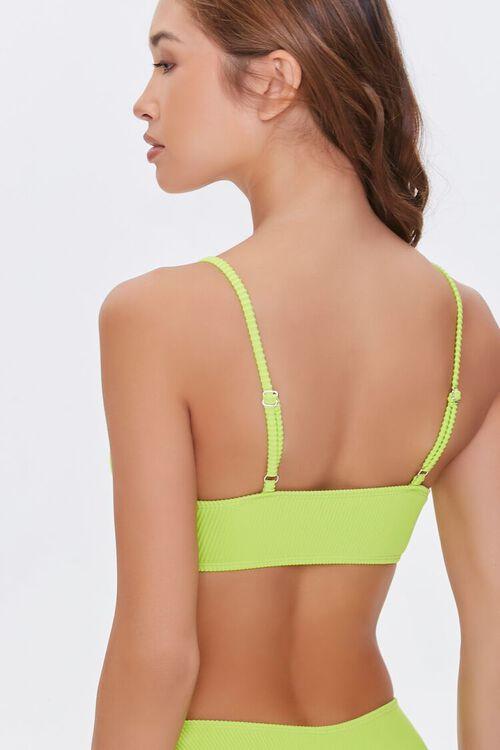 LIME Knotted Bikini Top, image 3
