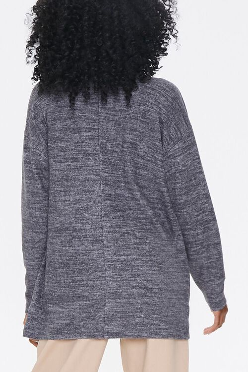 Heathered Knit Cardigan Sweater, image 3