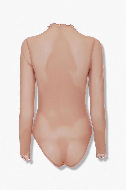 Sheer Lettuce-Edge Bodysuit, image 3