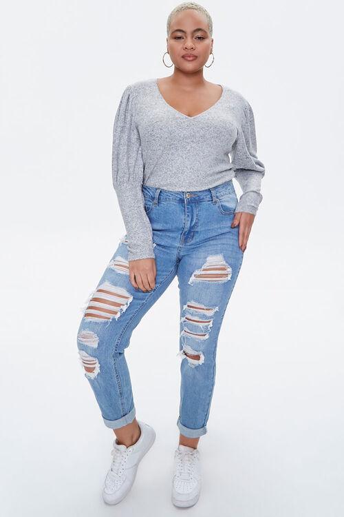 Plus Size Gigot Sleeve Top, image 4