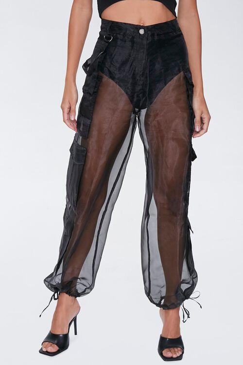 Sheer Organza Cargo Pants, image 2