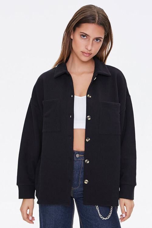 French Terry Patch-Pocket Shacket, image 5
