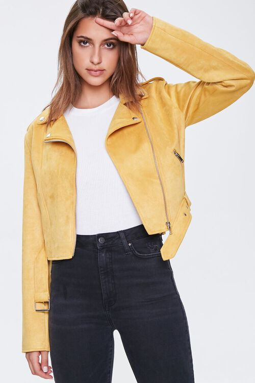 Faux Suede Moto Jacket, image 1