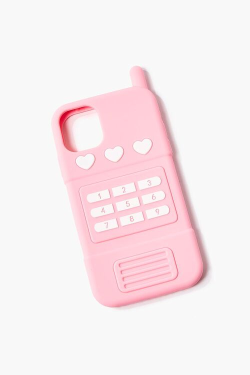 PINK/MULTI Retro Cell Phone Case for iPhone 12, image 1