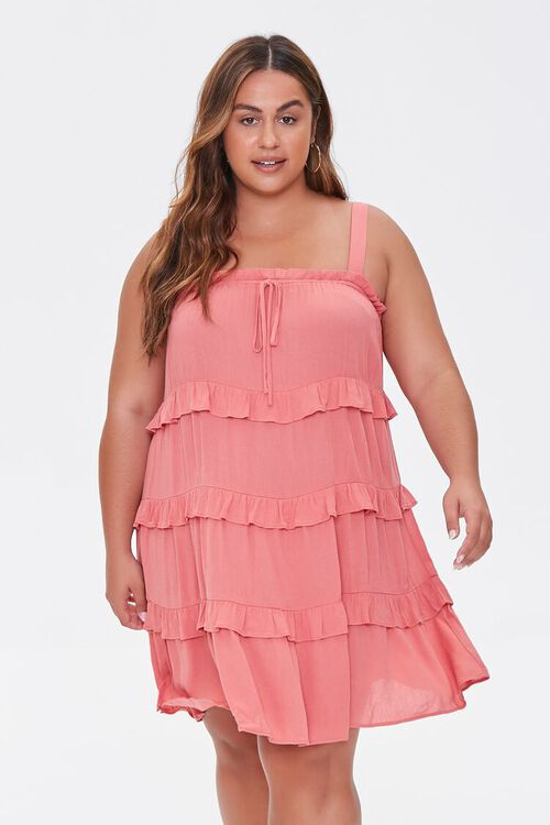 Plus Size Sleeveless Tiered Mini Dress, image 5