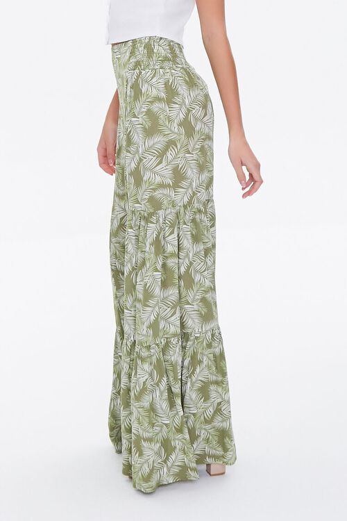 Leaf Print Wide-Leg Pants, image 2