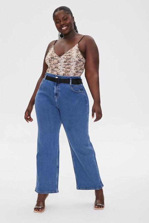 Plus Size High-Rise Straight Jeans, image 1