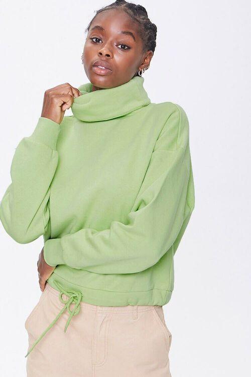 Fleece Turtleneck Sweater, image 1