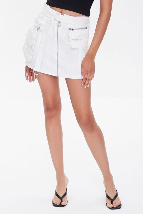 Denim Paperbag Mini Skirt, image 2