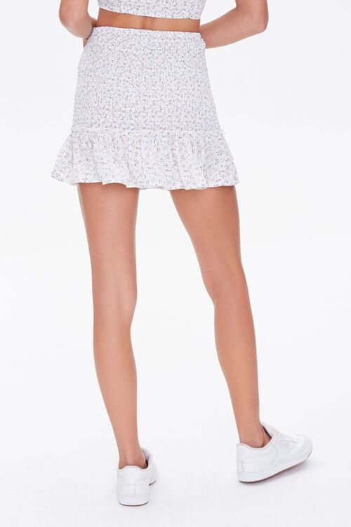 Floral Smocked Mini Skirt, image 4