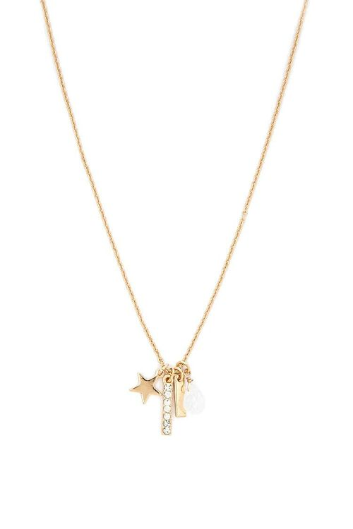 Star & Bar Charm Chain Necklace, image 1