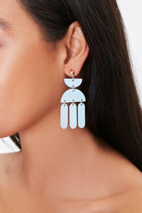 Geo Pendant Drop Earrings, image 1