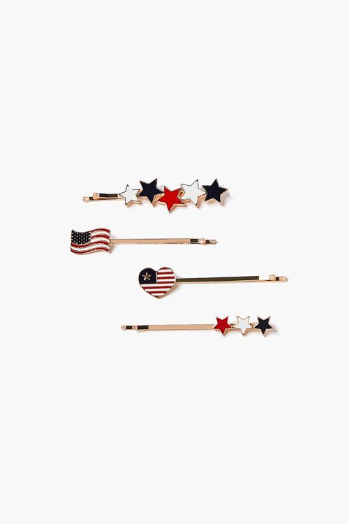 American Flag Bobby Pin Set, image 1