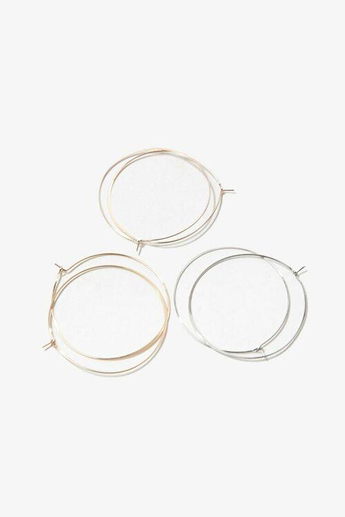 GOLD/SILVER Metal Hoop Earring Set, image 2