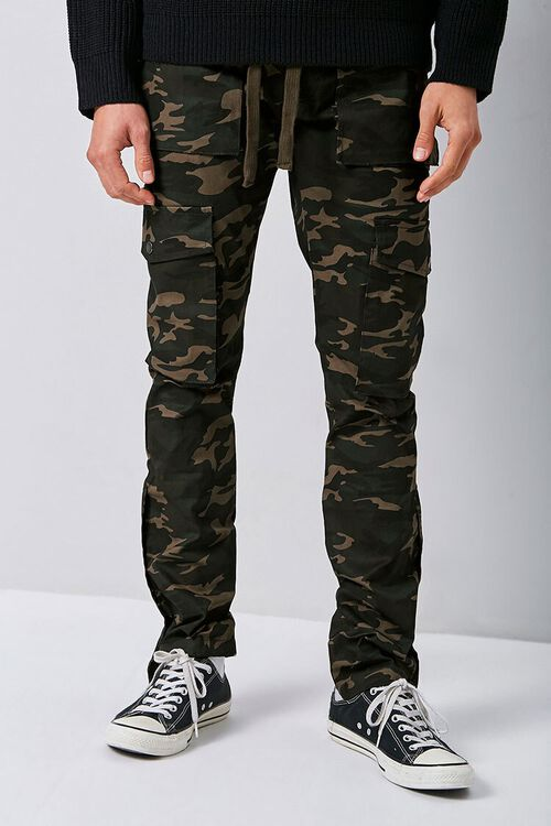 Camo Snap-Button Cargo Pants, image 2