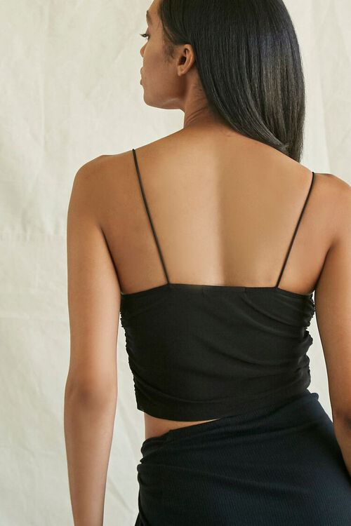 Ruched Mesh Cropped Cami, image 3