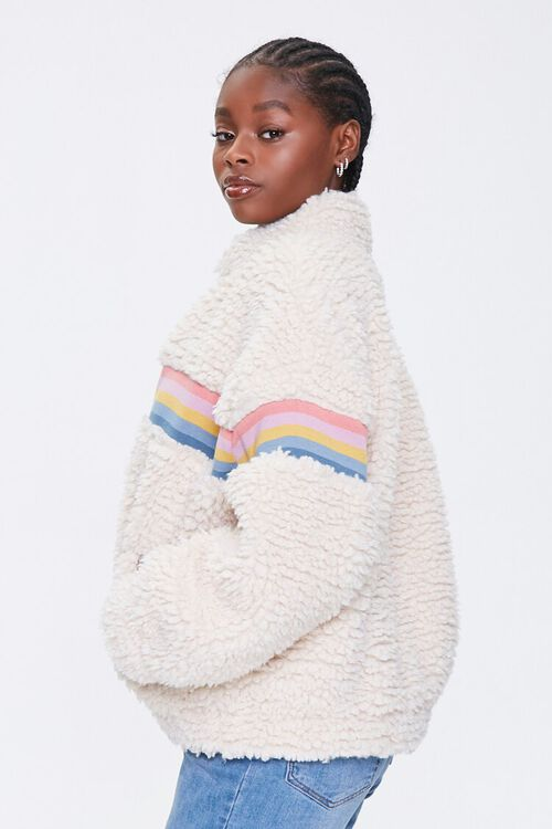 Striped Faux Shearling Jacket, image 2