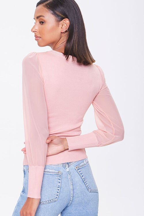 Sweater-Knit Ruched Top, image 3