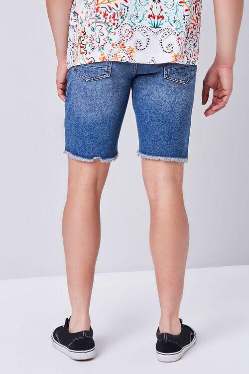 Distressed Frayed Denim Shorts, image 4