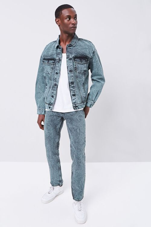 Stonewashed Slim-Fit Jeans, image 1
